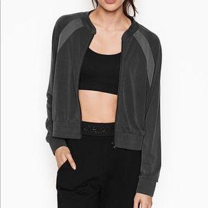 Victoria's Secret Sport Track Jacket Sandwashed